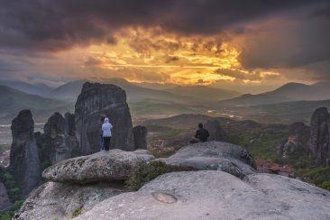 Meteora Sunset