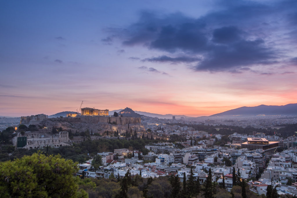 The Acropolis of Athens at Sunrise