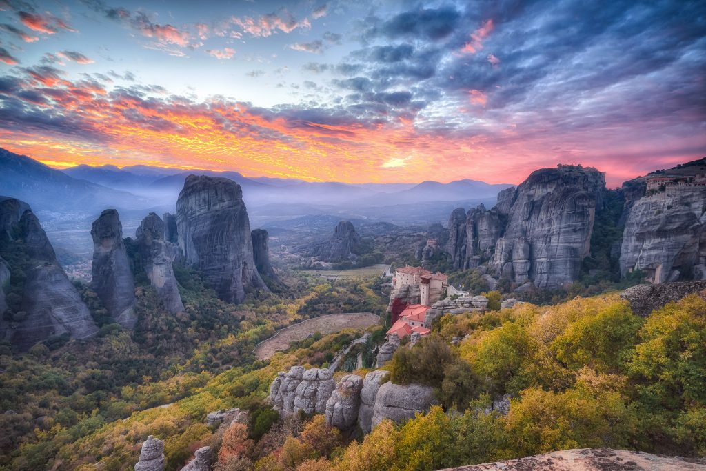 Meteora in fall colors