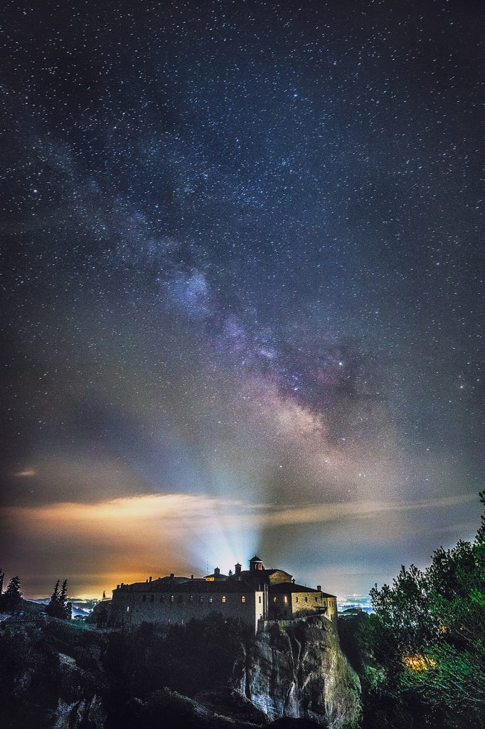 The milky way above r the Monastery of Saint Stephen