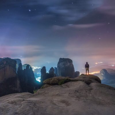 Meteora by night