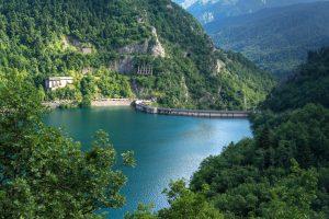 Plastiras Lake's dum