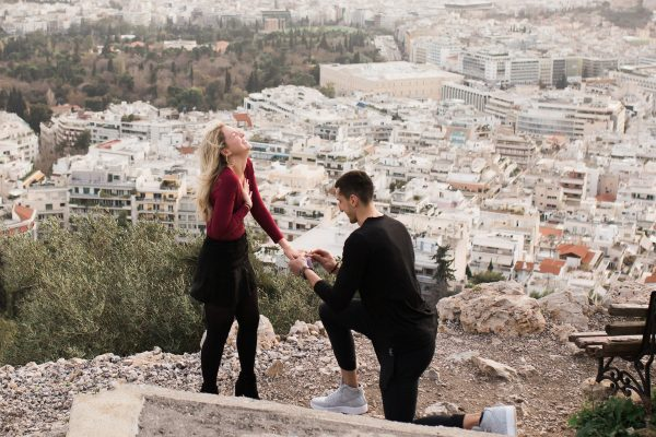 Surprise proposal at Athens