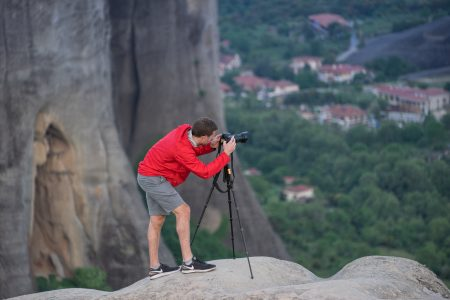 Photographing the Meteora Rocks