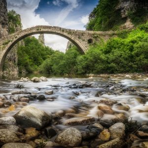 The bridge of Kokoris or Noutsos at Zagori