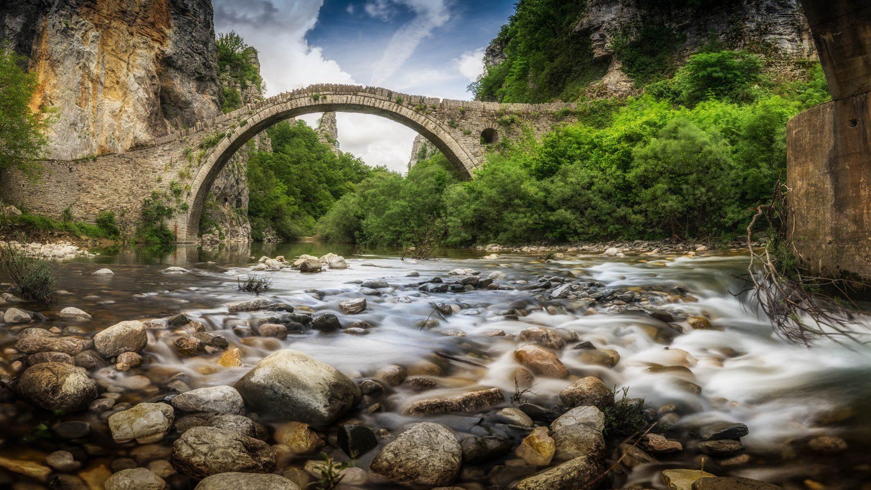 The bridge of Kokoris or Noutsos at Zagori