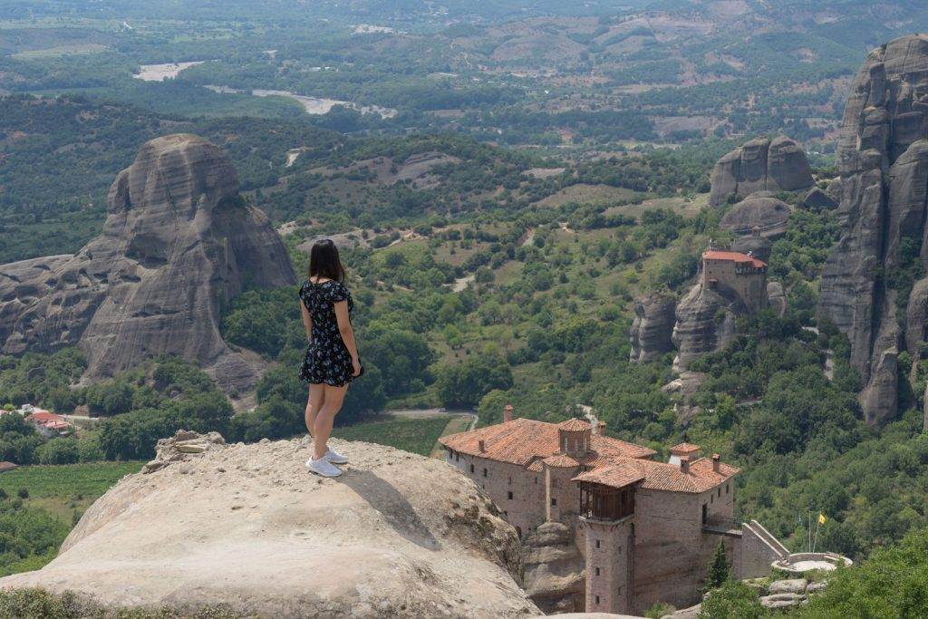 Breathtaking view at Meteora during the Photo Shooting