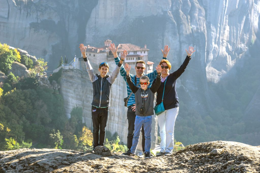 Family Photo Shoot in the stunning backdrop of Meteora