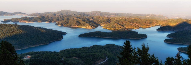 Panorama of Plastiras Lake