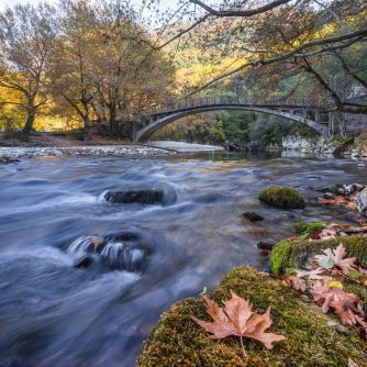 The bridge of Papigo at Zagori in Autumn