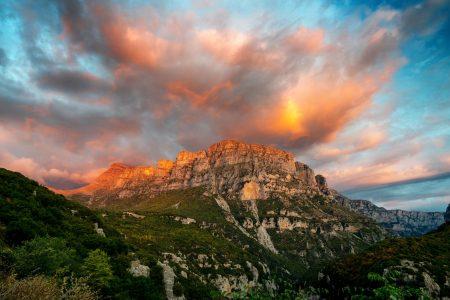 Sunset at Papigo Zagori