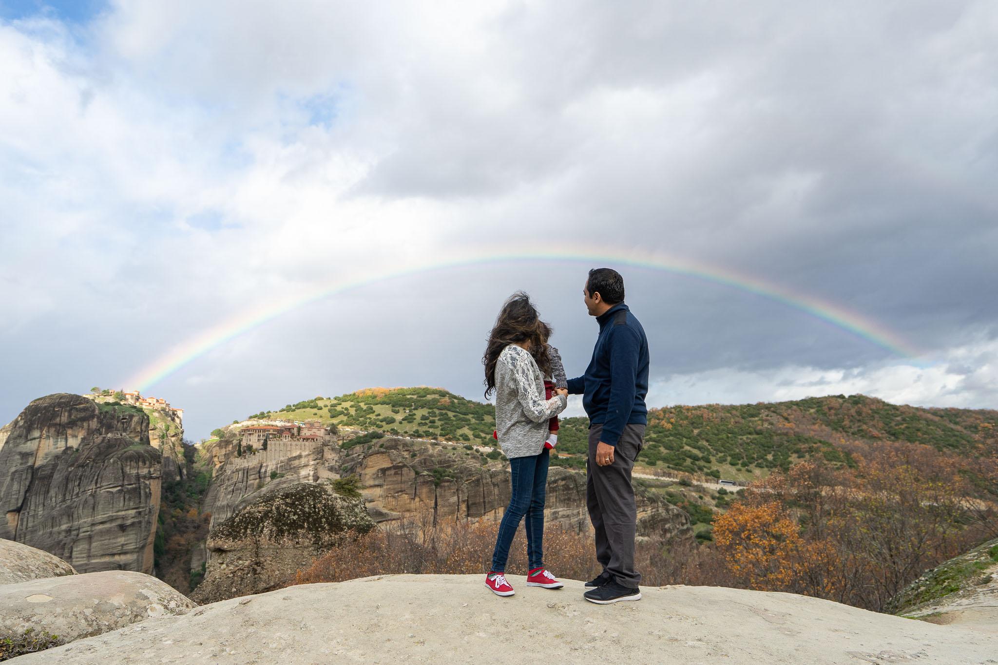 Meteora rainbow